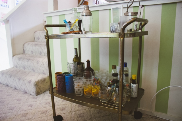 bar cart before and after